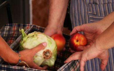 Reparto de alimentos a familias en exclusión social
